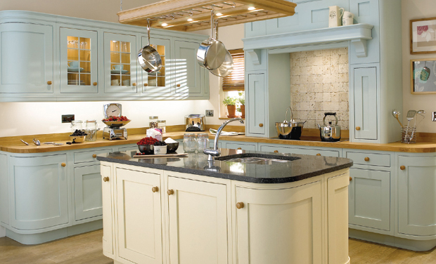 Pictures Of Cream Blue Kitchens